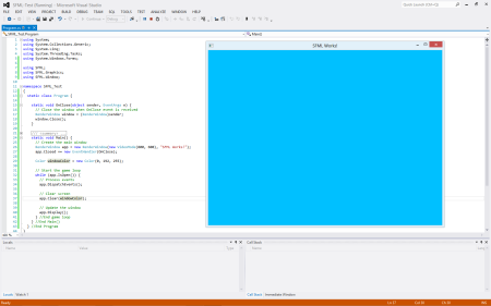 Visual Studio 2012 running test C# code with SFML.net 2.0